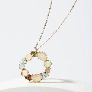 NWT Loft Wreath Pendant Necklace